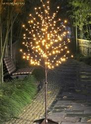 HUSUYUHU SISI LED 6 Ft. 208L освещенное Вишневое дерево, 6,5 футов теплый белый 24V UL одобренный адаптер безопасные световые струны