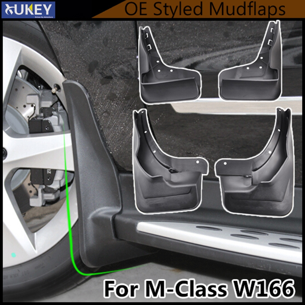 Accessories Mud Flaps For Benz M Class ML W166 2012 2015 ML300 ML350 ML500 W Running