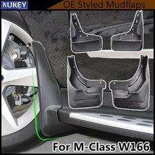 Accessories Mud Flaps For Benz M Class ML W166 2012 2015 ML300 ML350 ML500 W/Running Board Mudflaps Splash Guards 2013 2014