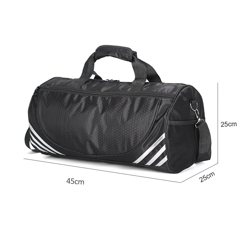 Outdoor Sports Training Gym Bags Fitness Travel Outdoor Sports Bag Handbags Shoulder Dry Wet Shoes For Women Men-Black+White  #8