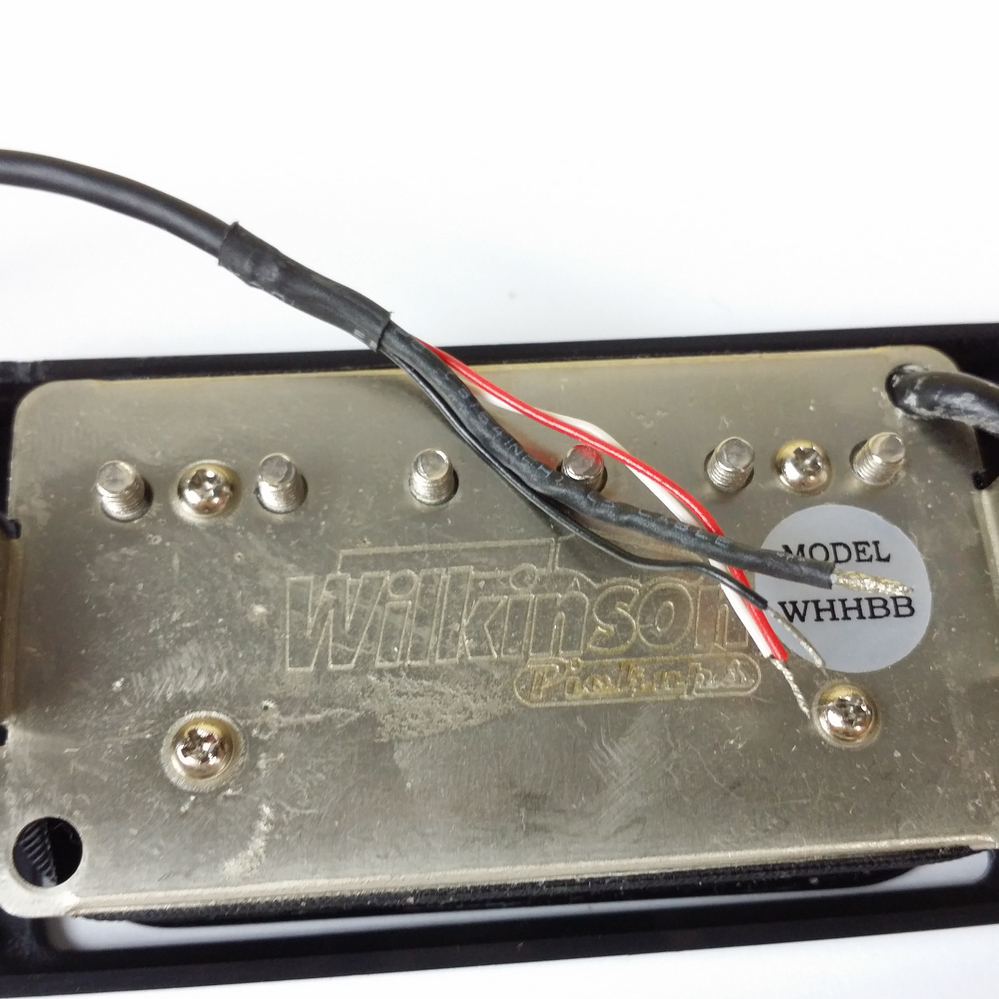 Купить с кэшбэком NEW Wilkinson Humbueker Double Row Open Electric Guitar Humbueker Pickups Set Black Made IN Korea