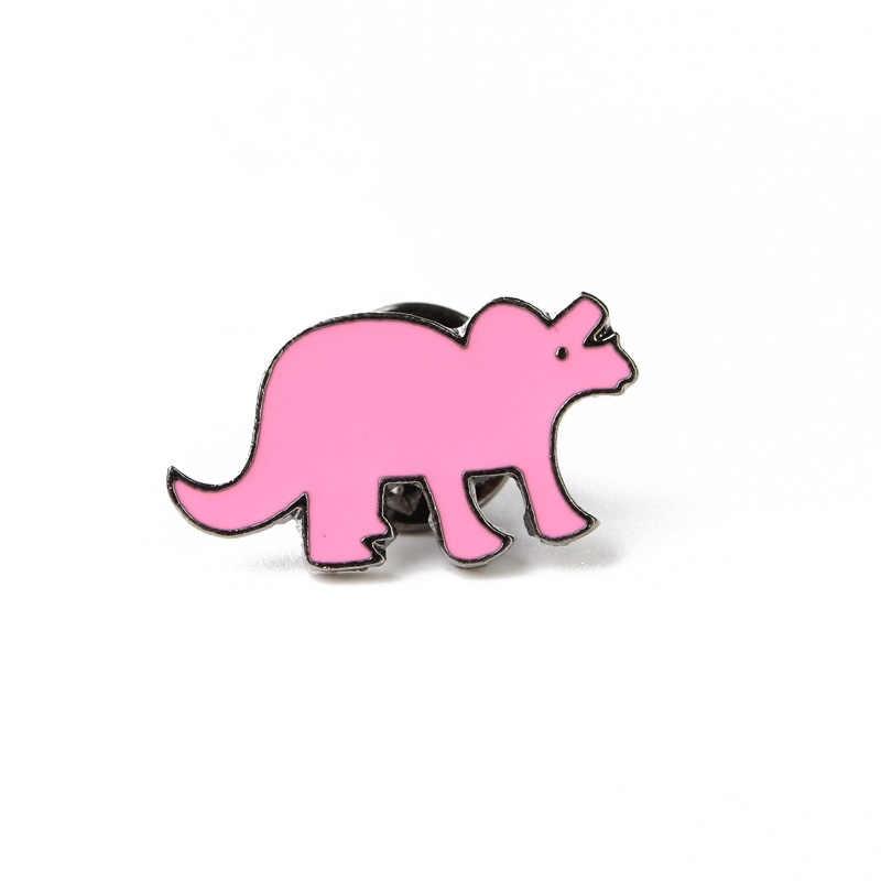 Dinosauro Spilla Pins Dello Smalto Del Fumetto Animale Spilla Giacca T-Shirt Spilla Pin Collare Per Le Donne Bambini Gioielli di Moda 2017