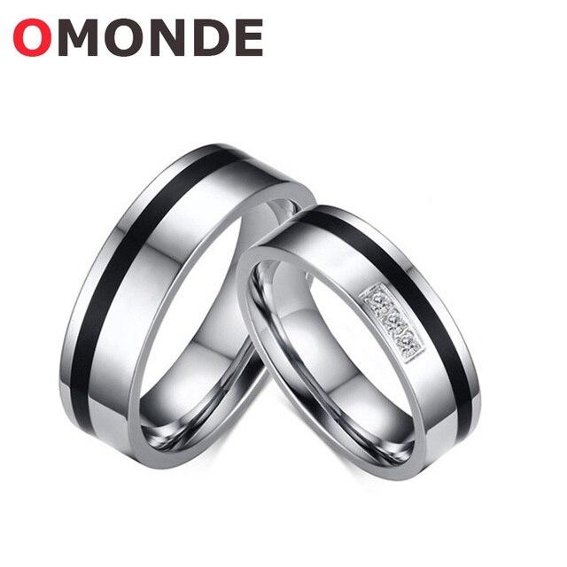 30c3adde1f1f OMONDE amante anillo de compromiso de pareja moda boda anillo para las  mujeres hombres moda romántica