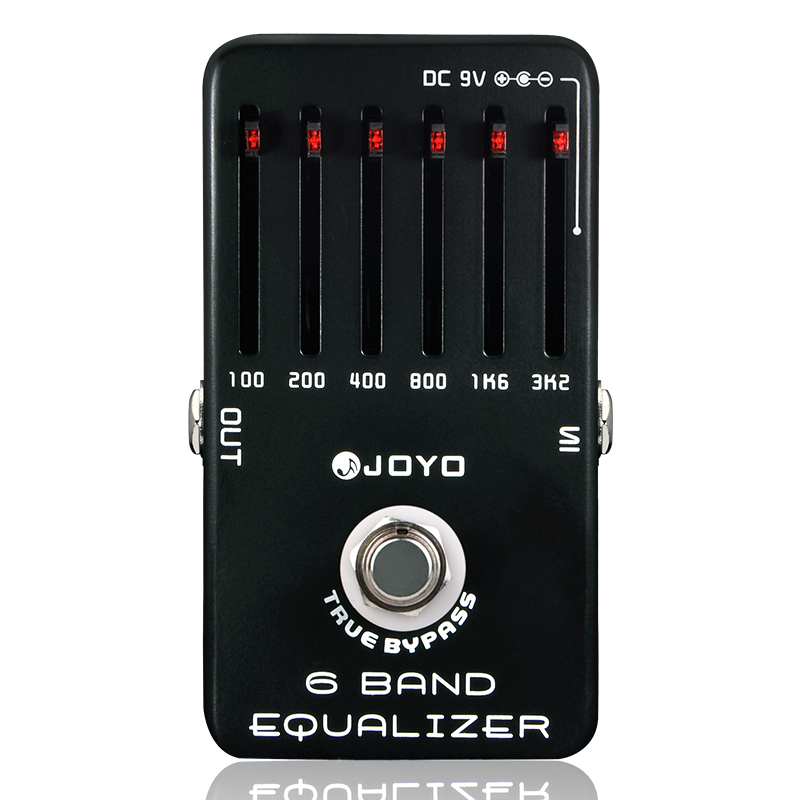 EQ Equalizer 6-Band Guitar Effect Pedal True Bypass Joyo JF-11 Guitar Parts Accessory Effecs