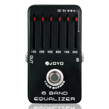 Professional Electric Guitar Pedal Effect Box 6-Bands Equalizer with One MOOER PC-Z Pedal Connector and One Cover Cap Joyo JF-11
