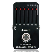 Professional Electric Guitar Pedal Effect Box 6 Bands Equalizer with One MOOER PC Z Pedal Connector and One Cover Cap Joyo JF 11