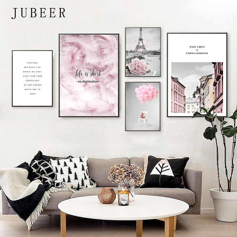 Scandinavian Style Minimalism Canvas Painting Landscape Wall Pictures for Living Room Cuadros Decoracion Salon Poster and Prints