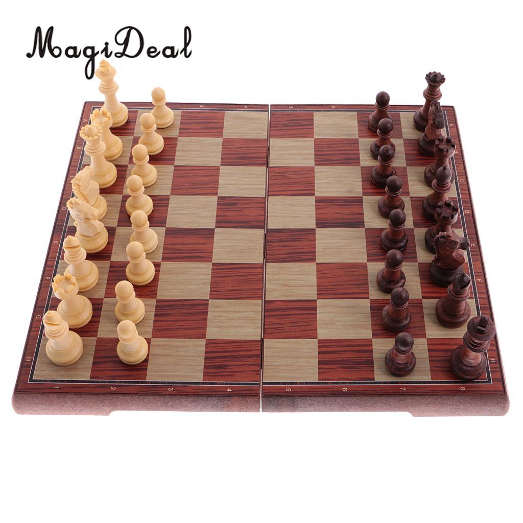 MagiDeal 1 компл. магнитные международной шахматы, шашки, набор складной Настольная игра для Интеллектуальное развитие Развлечения игрушка в по...