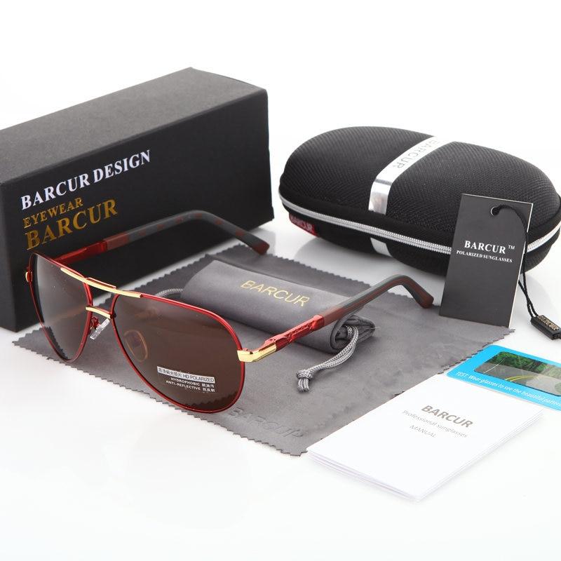 BARCUR Fashion Glasses Hot Style Men sunglasses Polarized UV400 Protection Driving Sun Glasses Male Oculos de sol 10