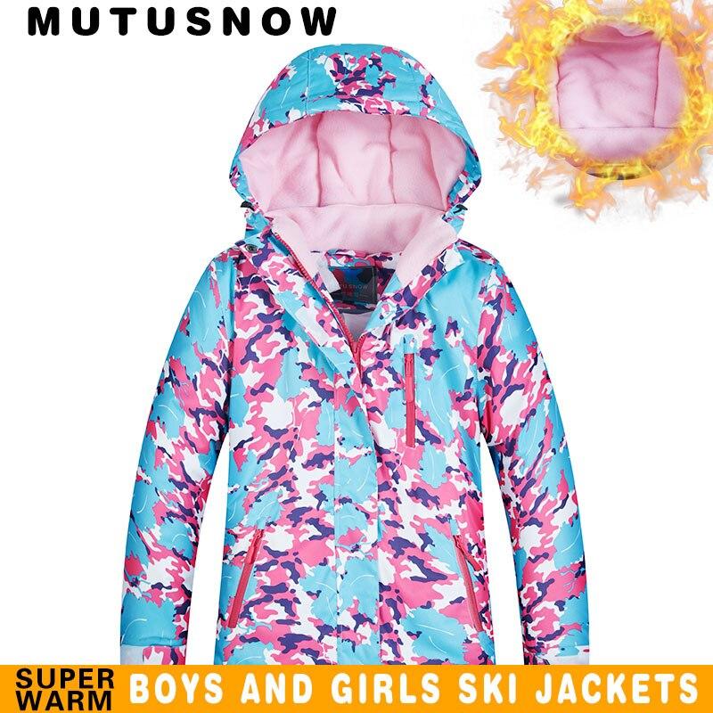 Ski Jacket Girls Winter Brands 2019 High Quality Waterproof Windproof Thicken Super Warm -30 Degrees Snow Snowboard Jacket Kids