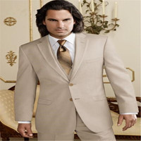 2019 new Custom Made Wedding Suits Fashion Wedding Tuxedos Men Business Suits 3 Piece (Jacket + Pants + Vest)