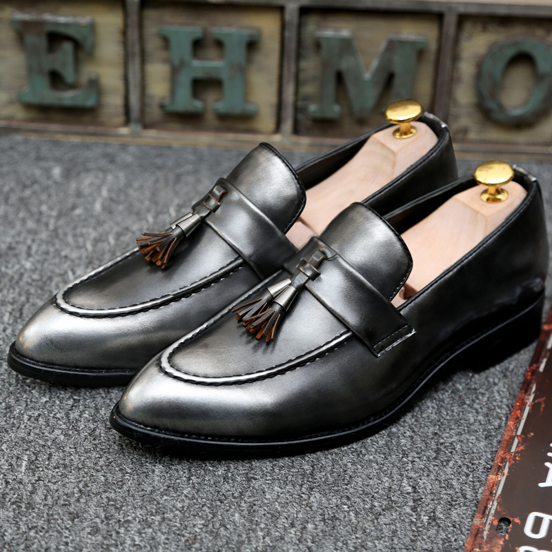 Leather Men Loafers New Handmade Casual Shoes pointed toe Men Moccasins For Men Leather Flat Shoes High Quality Lofers