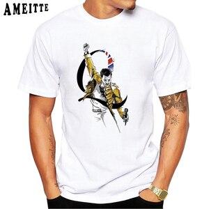 Футболка Freddie Mercury The queen Band Art, Мужская Хип-Хоп Ретро Рок хипстерская футболка, винтажные повседневные топы для мальчиков в стиле Харадзюку, Мужские футболки в стиле панк