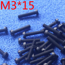 M3*15 15mm 1 pcs black Round Head nylon Screw plastic screw Insulation brand new RoHS compliant PC/board DIY hobby etc