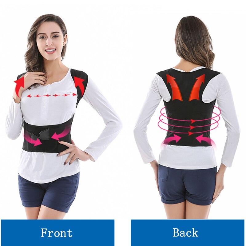 Children Adult Corset Back Posture Corrector Therapy Shoulder Lumbar Brace Spine Support Belt Posture Correction For Men Women 3