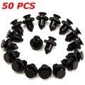 50 шт. 10 мм отверстие для автомобильного бампера/крыла пластиковые нажимные заклепки Крепежные Зажимы для Honda Black Car Styling