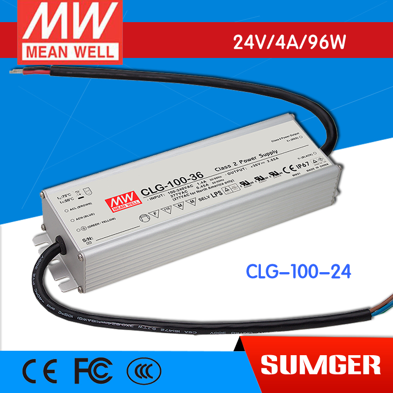 ФОТО [Freeshiping 1Pcs] MEAN WELL original CLG-100-24 24V 4A meanwell CLG-100 24V 96W Single Output LED Switching Power Supply