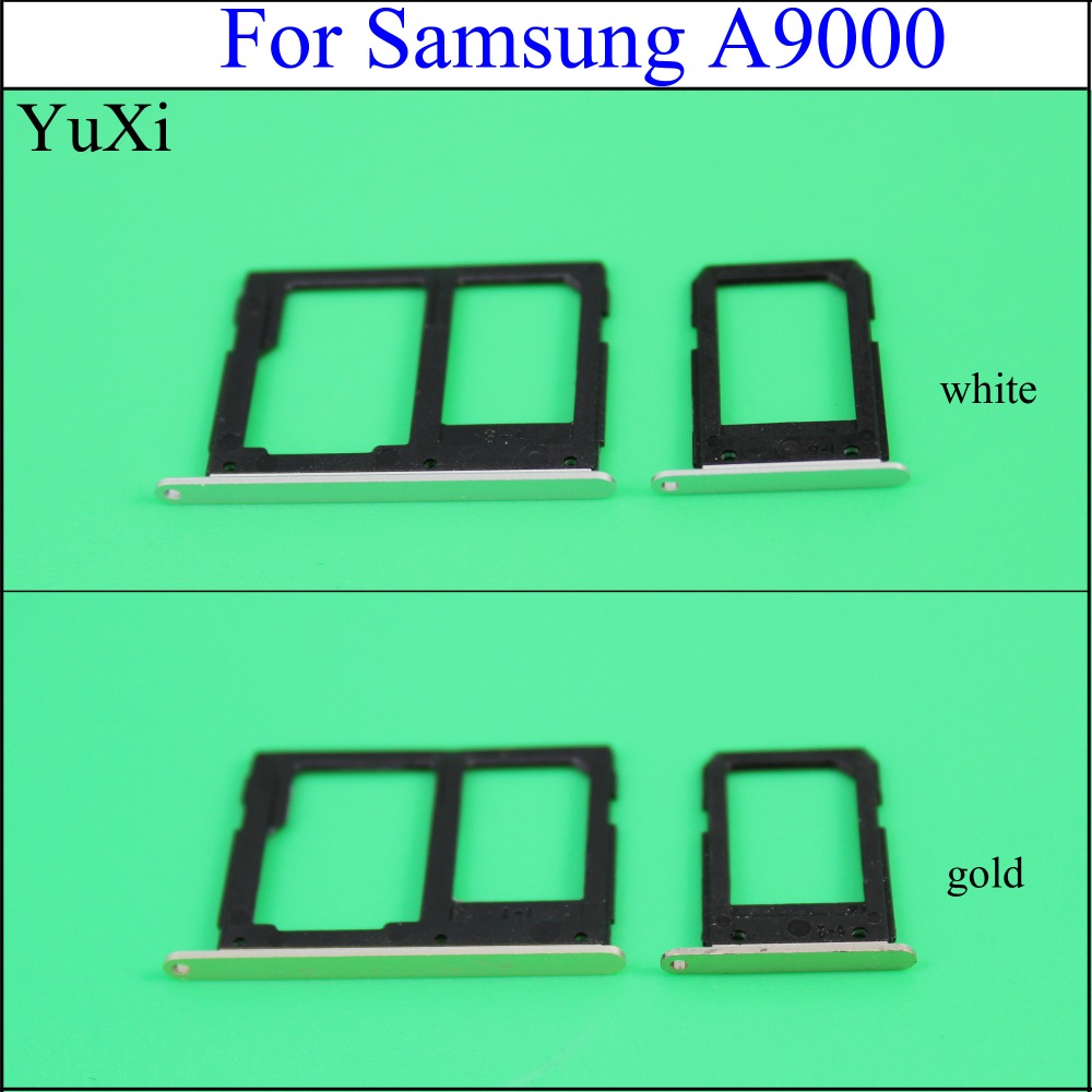 YuXi Brand NEW SIM Card Tray For Samsung Galaxy A9 A9000 With Micro SD Card Tray