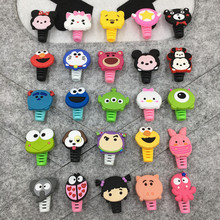 50 packs Cartoon USB Cable Protector For iPhone Management Data Line Organizer Clip Winder Samsung Huawei