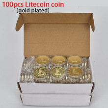 DHL/FedEx/UPS 100PCS Litecoin Coin Gold Plated Metal coin For Collection