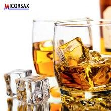Cubos de gelo acrílicos artificiais reutilizáveis de cristal falso cerveja uísque bebidas decoração material para fotografia adereços casamento barra festa