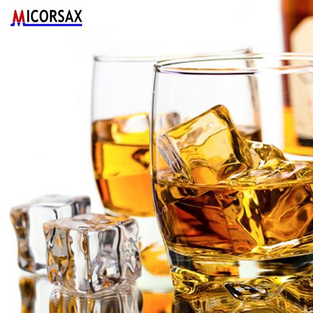 Künstliche Acryl Eiswürfel Reusable Gefälschte Kristall Bier Whisky Getränke Decor Material für Fotografie Requisiten Hochzeit Bar Partei