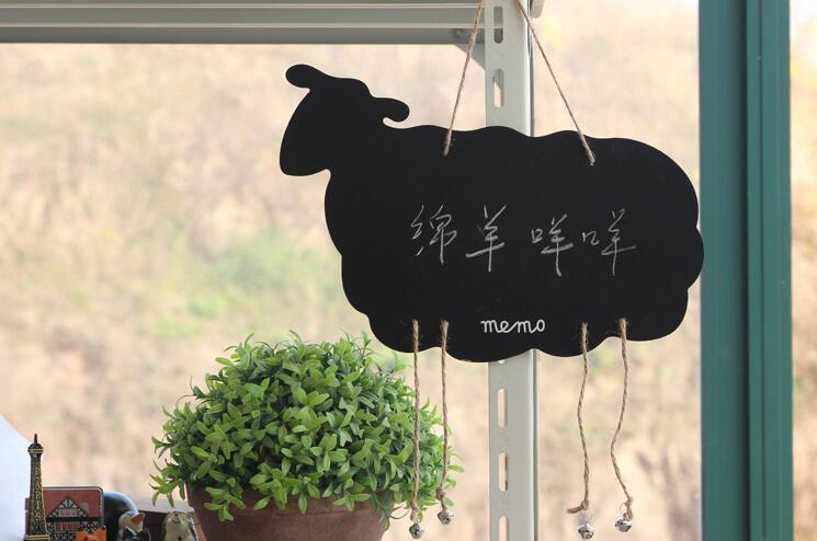 Animal Shaped Hanging Chalkboard Kids Wood Blackboard Sheep/Star/Deer