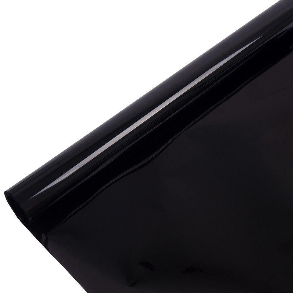 1.52*30 m 100% UV noir foncé voiture fenêtre teinte Film verre VLT 5% rouleau 2 plis voiture Auto maison commerciale Protection solaire vinyle