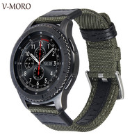 V Moro Newest Fashion Breathable Watch Straps For Samsung Gear S3 Strap Band Woven Nylon Soft