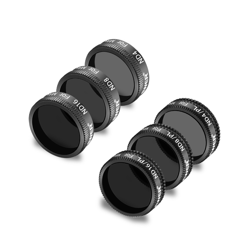 Neewer 6 Pieces Pro Lens Filter Kit for DJI Mavic Air Drone Quadcopter Includes:ND4 ND8 ND16 ND4/PL ND8/PL ND16/PL Made of Multi цены онлайн