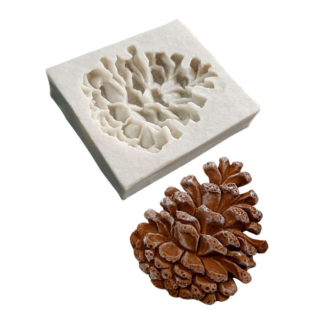 1 PCS Pine Cone Forma de Silicone Líquido Molde Fondant Ferramenta de Decoração Do Bolo de Chocolate DIY Cozimento Cozinha