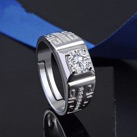 New s925 sterling silver ring ethnic style jewelry diamond ring men's jewelry free shipping