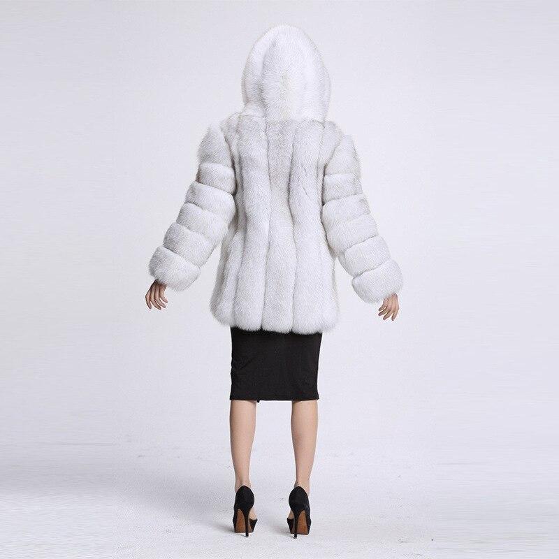 Veste 1 Haute Capuche Chaud Manteau Fausse Artificielle Fourrure De Femmes Renard 2 4xl Imitation En 3 Femelle Hiver À 2018 Nouveau Épais Long BvFSTnx