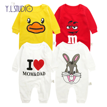 f00b086f5451 New Born Baby romper Clothes winter overalls I Love Mom and Dad Full  Sleeves Autumn Costume