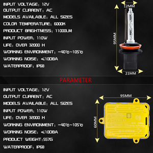 Image 4 - COOLFOX AC 12 V 55 W Xenon żarówki 9006 9005 HB4 HB3 H11 H4 H7 reflektory ksenonowe statecznik hid światła z jednostka zapłonu zestaw 24 V lampa samochodowa