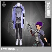Аниме RWBY четыре цвета Туманность Violette NDGO капитан фиолетовый косплэй костюм с перчатки