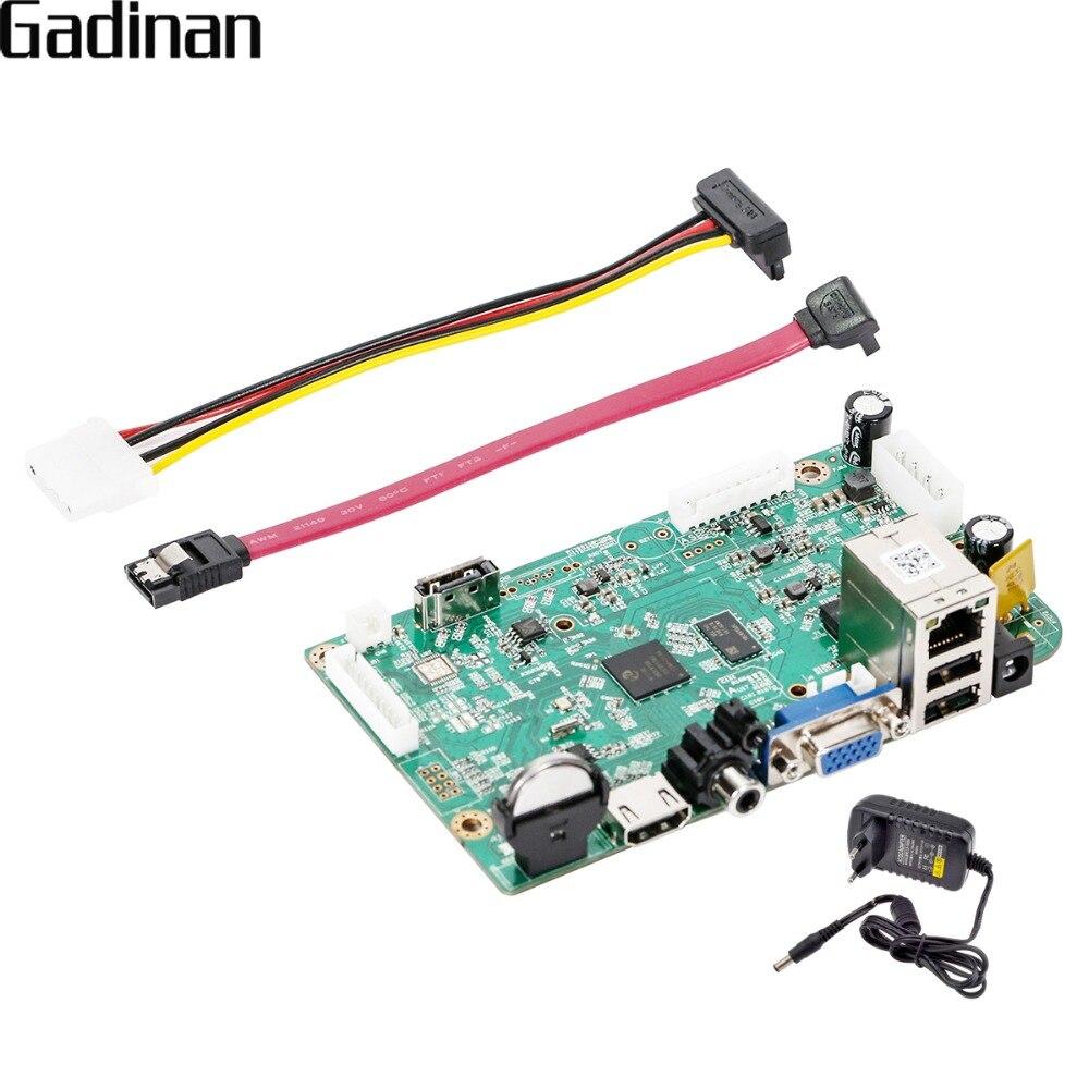 GADINAN NVR Conseil H.265/H.264 16CH * 5MP Hi3536D CCTV Réseau Enregistreur Vidéo Numérique de Détection de Mouvement P2P CMS XMEYE pour Caméra IP