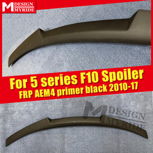 F10 AEM4 style Spoiler FRP Unpainted Primer black Fits For 520i 525i 528i 530i 535i rear diffuser stem Tail 2010-17