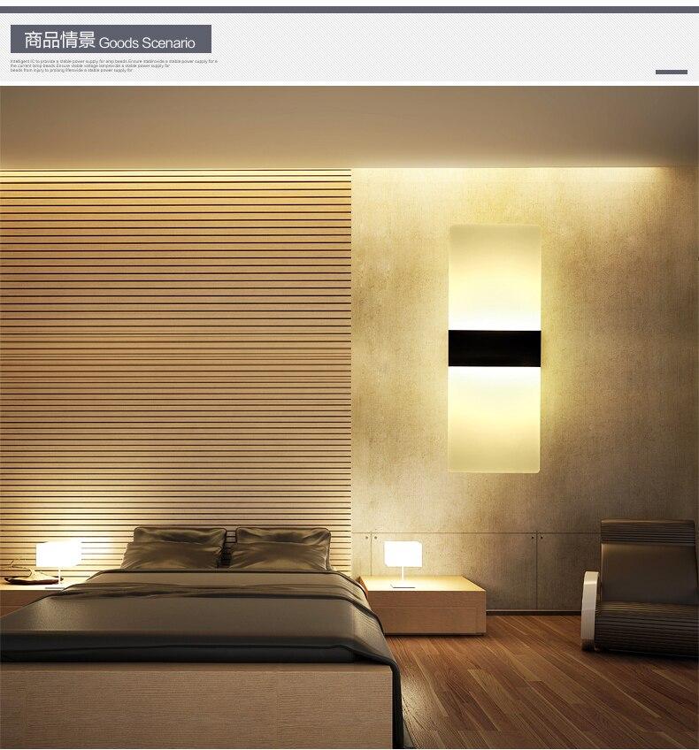 ФОТО Modern LED Wall Lamp Acryl+Metal Home Lighting Bedroom/Bedside Wall Sconce Light Living Sitting Room Foyer Bathroom Waterproof