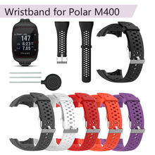 цена на Wristband for Polar M400 Silicone Replacement Strap for Polar M430 GPS Running Smart Watch Sport Watchband Wrist Strap Bracelet