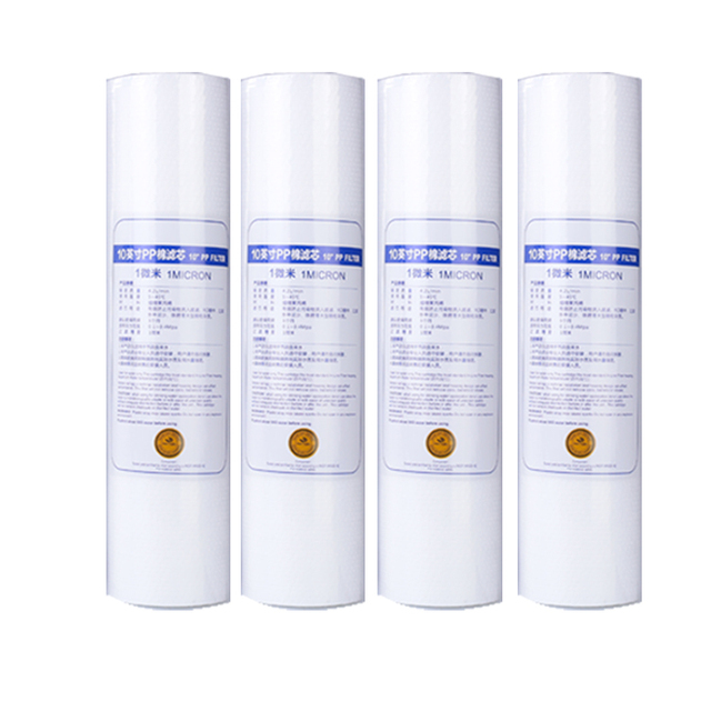 Nuovo 4 pcs PP Filtro In Cotone Filtro Acqua Depuratore di Acqua 10 Pollici 1 Micron Sedimenti Cartuccia del Filtro Dell'acqua di Inverso del Sistema di osmosi