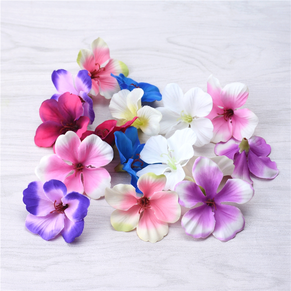 20pcs Orchid Artificial Flower Phalaenopsis Wedding Home Decorative Flowers DIY Wreaths Clipping Cymbidium Artificial Plants