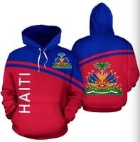 Unisex StreetWear Haiti All Over 3D Print Hoodie Men Fashion Casual Pullover Oversized Long Coat Clothing Sweatshirt Long Sleeve