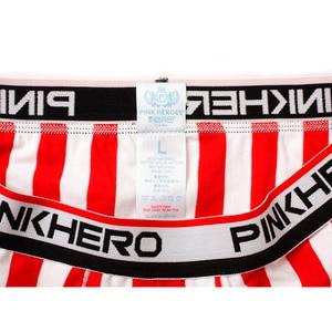 Image 4 - 4 pçs/lote listrado algodão exercício dos homens roupa interior boxer barras verticais homem shorts corrida deslizamento elástico cintura alta qualidade