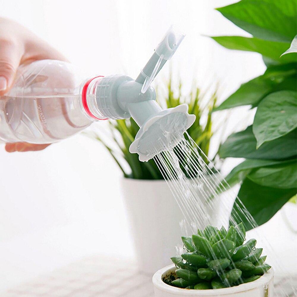 2 In 1  Garden Plastic Sprinkler Portable Plant Watering Nozzle Tool Spray Waterer Water Cans Bottle Cap Flower Garden Tool