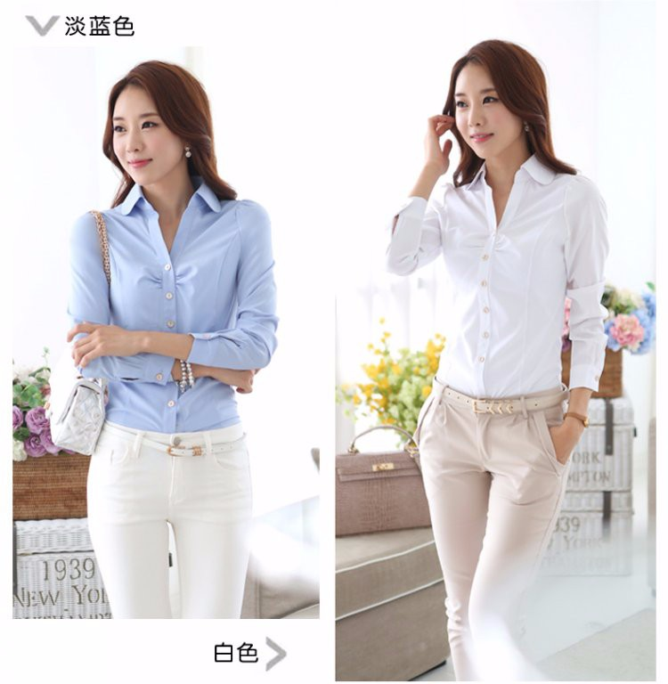 HTB11P7WLXXXXXXhXVXXq6xXFXXXF - Casual Blouse Long Sleeve Femininas Ladies Work Wear Tops Shirt