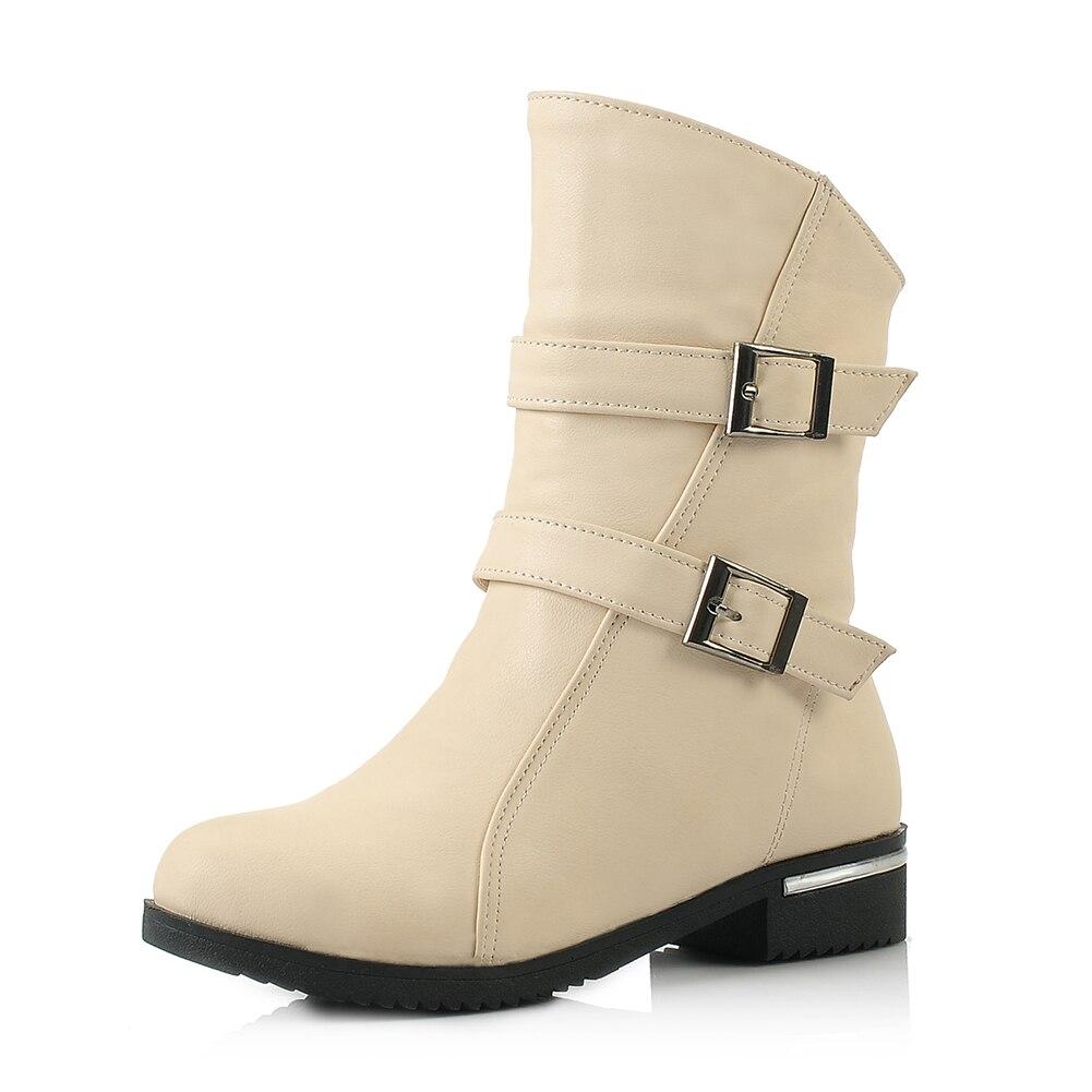 Por Altos 34 De Piel Becerro Las Botas Tacones Venta Grande Ocio Zapatos Tamaño marrón Sarairis Mujer Mujeres 43 Beige Invierno Caliente Mayor Al negro Cxq0wtfa4t
