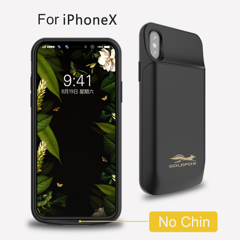 For IphoneX 6000mAh High Capacity External Power Bank Battery Charger Case For iphone X Portable Backup Charging Back Cover Case