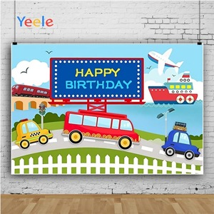 Image 2 - Yeele Transportation Bus Car Airplane Ship Birthday Photography Backgrounds Customized Photographic Backdrops for Photo Studio