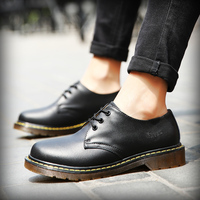 2018 Shoes Women Leather lace up Thick Bottom Flat Platform Martin Shoes Unisex Spring Autumn Causal Shoes Flats Oxfords